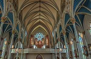 Cathedral of St. John the Baptist (Savannah, Georgia) - Image: Savannah cathedral 2015 17 049