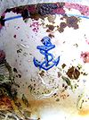 Broken British Navy teacup