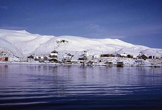 Atka Island - Atka village in winter