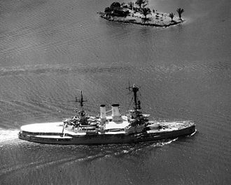Deutschland-class battleship - Schlesien transiting the Panama Canal in 1938