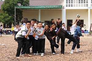 Laotian society - School children in Savannakhet