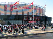 Scotiabank Place, where the Ottawa Senators of the National Hockey League play.