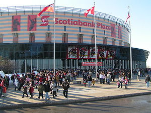 Kanata, Ontario - Recently renamed Canadian Tire Centre, with the former name shown