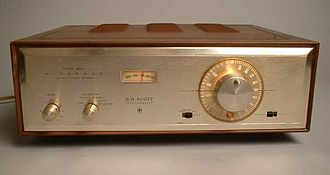 Stereophonic sound - HH Scott Model 350, ca. 1961: the first FM multiplex stereo tuner sold in the U.S.