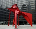 "Sculpture ""Flamingo"" at Federal Center Plaza, John C. Kluczynski Federal Building, Chicago, Illinois LCCN2010719970.tif"