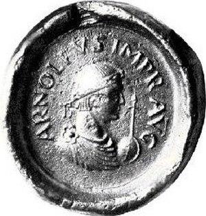 Arnulf of Carinthia - Image: Seal of Arnulph of Carinthia (896)