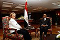 Secretary Clinton Meets With Egyptian President Mubarak (4990296929).jpg