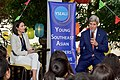 Secretary Kerry Addresses YSEALI Participants During Visit to Restaurant Overlooking Mekong River and Thailand From Laos (24494539152).jpg