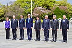 Secretary Kerry Stands With His G7 Counterparts After They Laid Wreaths at Hiroshima Peace Memorial Park (26270771052).jpg