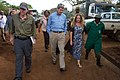 Secretary Kerry Walks With Ambassador Godec, Angela Sheldrick, and an Elephant Caretaker at the Sheldrick Elephant Orphanage (16735528344).jpg