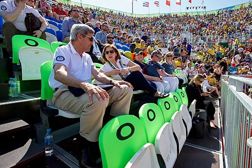 Secretary Kerry and U.S. Ambassador Ayalde Chat During An Olympic Beach Volleyball Game (28520813780).jpg