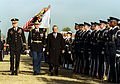 Secretary Rumsfeld inspects honor guard 20010126.jpg