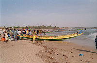 On the beach at Mbour