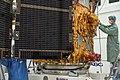 Sentinel-2A satellite - Solar wing test.jpg