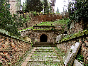 Cornelia (gens) - Entrance to the Tomb of the Scipios at Rome.