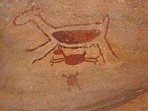 Serra da Capivara National Park - Image: Serra da Capivara Painting 7