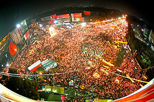 2013 Shahbag protests - Demonstrators in Shahbag in February 2013