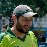 Shahid Afridi during Pakistan's tour of New Zealand in December 2010.