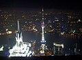 Shanghai, night, towers.JPG