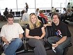 Shawn Healy, Jessica Kileen, John Alex Golden at the airport (191765351).jpg