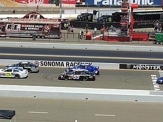 Sheldon Creed - Creed (No. 55) prior to the 2017 Carneros 200 at Sonoma Raceway