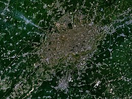 Foto satellitare dell'area metropolitana