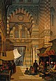 Shops of hashish merchants on a street in Cairo. Chromolitho Wellcome V0019267.jpg