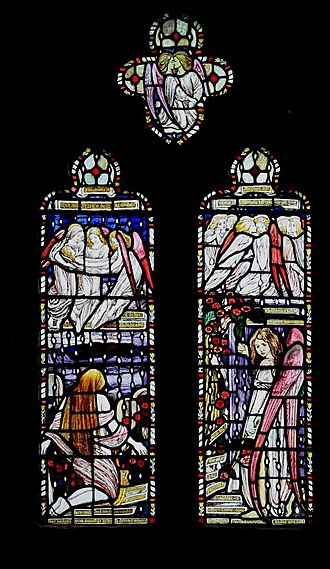 Reginald Hallward - Window in St Peter and St Paul's Church, Shorne, Kent by Hallward