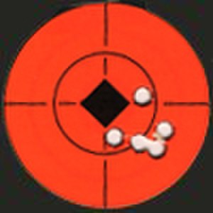 Shooting target - Image: Shot grouping on target