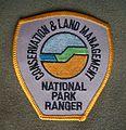 Shoulder badge CALM National Park Ranger Shirt 2005.JPG