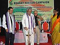 Shri Thangso Baite, MP, Lok Sabha of Manipur inaugurating Bharat Nirman Public Information Campaign, at Khangshim Village, Chandel District, Manipur on October 29, 2013.jpg