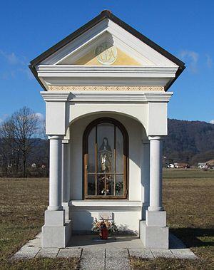 Stranska Vas, Dobrova–Polhov Gradec - Image: Shrine in Stranska Vas Slovenia