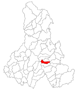 Location of Siculeni