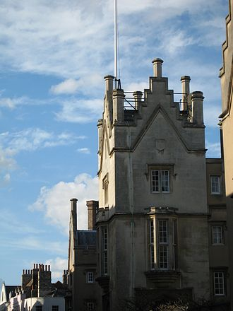 Sidney Sussex College, Cambridge - A view of the college from Sidney Street