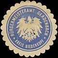 Siegelmarke Bürgermeisteramt Gladenbach Kreis Biedenkopf W0383028.jpg