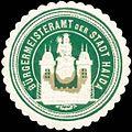 Siegelmarke Bürgermeisteramt der Stadt Haida W0319467.jpg
