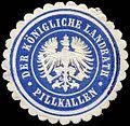 Siegelmarke Der Königliche Landrath - Pillkallen W0260292.jpg