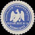Siegelmarke K.Pr. Feld-Artillerie Regiment No. 72 Hochmeister W0363859.jpg