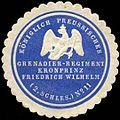 Siegelmarke K. Pr. Grenadier-Regiment Kronprinz Friedrich Wilhelm (2. Schlesisches) No. 11 W0285422.jpg