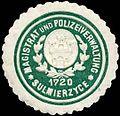 Siegelmarke Magistrat und Polizeiverwaltung - Sulmierzyce W0237747.jpg
