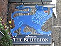 Sign for The Blue Lion, Gray's Inn Road, WC1 - geograph.org.uk - 1229310.jpg
