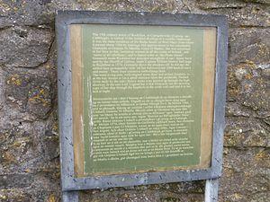 Rockfleet Castle - Historical information outside Rockfleet Castle