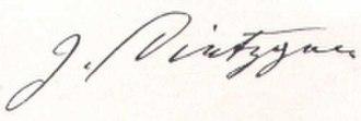 Joseph Dietzgen - Image: Signatur Dietzgen