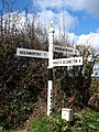 Signpost, Lane Cross - geograph.org.uk - 742983.jpg