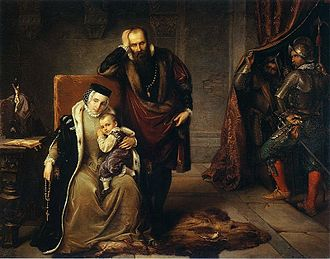 Gripsholm Castle - Catherine Jagiellon and her son Sigismund in Gripsholm prison (National Museum in Warsaw).