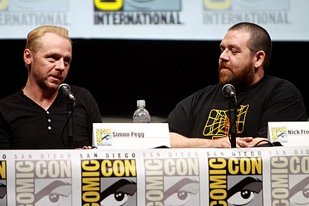 Simon Pegg and Nick Frost at the 2013 San Diego Comic-Con Simon Pegg & Nick Frost SDCC 2013.jpg