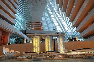 Inside the Marina Bay Sands Hotel