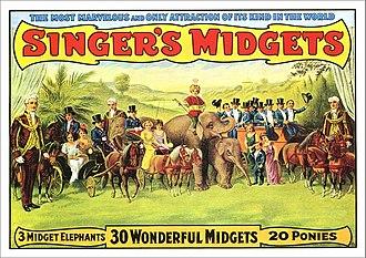 Midget - Image: Singer's Midgets carnival poster