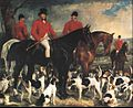 Sir Francis Grant - Portrait of Gerard Leigh, Master of the Hertfordshire hounds at a meet.jpg