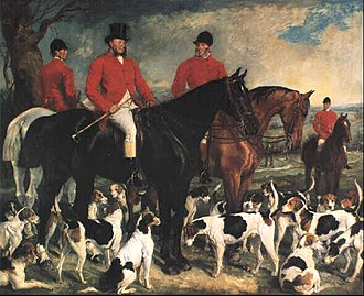 Luton Hoo - John Gerard Leigh (1821-1875), of Luton Hoo, Master of the Hertfordshire Foxhounds